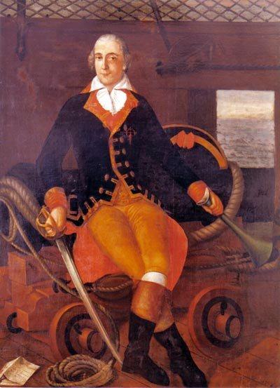 Joseph de Ezquerra y Guirior, a Real Carlos parancsnoka.