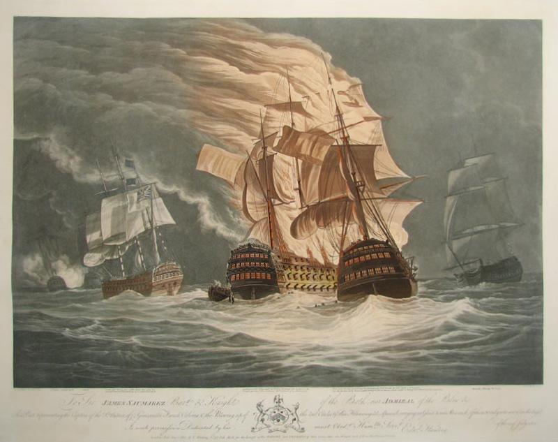 A lángokban álló spanyol hajók.