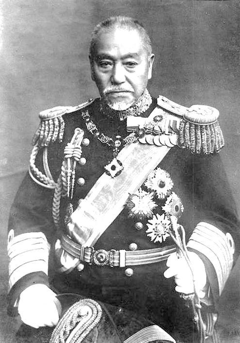 Togo Heihacsiro tengernagy, a japán Egyesített Flotta főparancsnoka. (1848-1934)