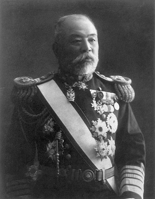 Dewa Shigeto altengernagy, a Harmadik Cirkáló Osztag parancsnoka. (1856-1930)