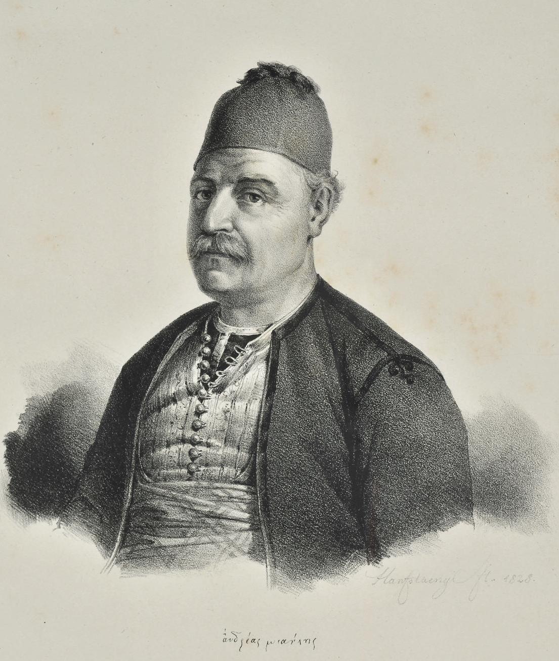 Andreas Vokos, ismertebb nevén Miaoulis, a görög flottaparancsnok.