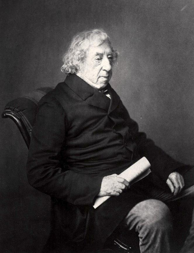 Az agg Tengeri Farkas 1855-ben, nyolcvanéves korában.