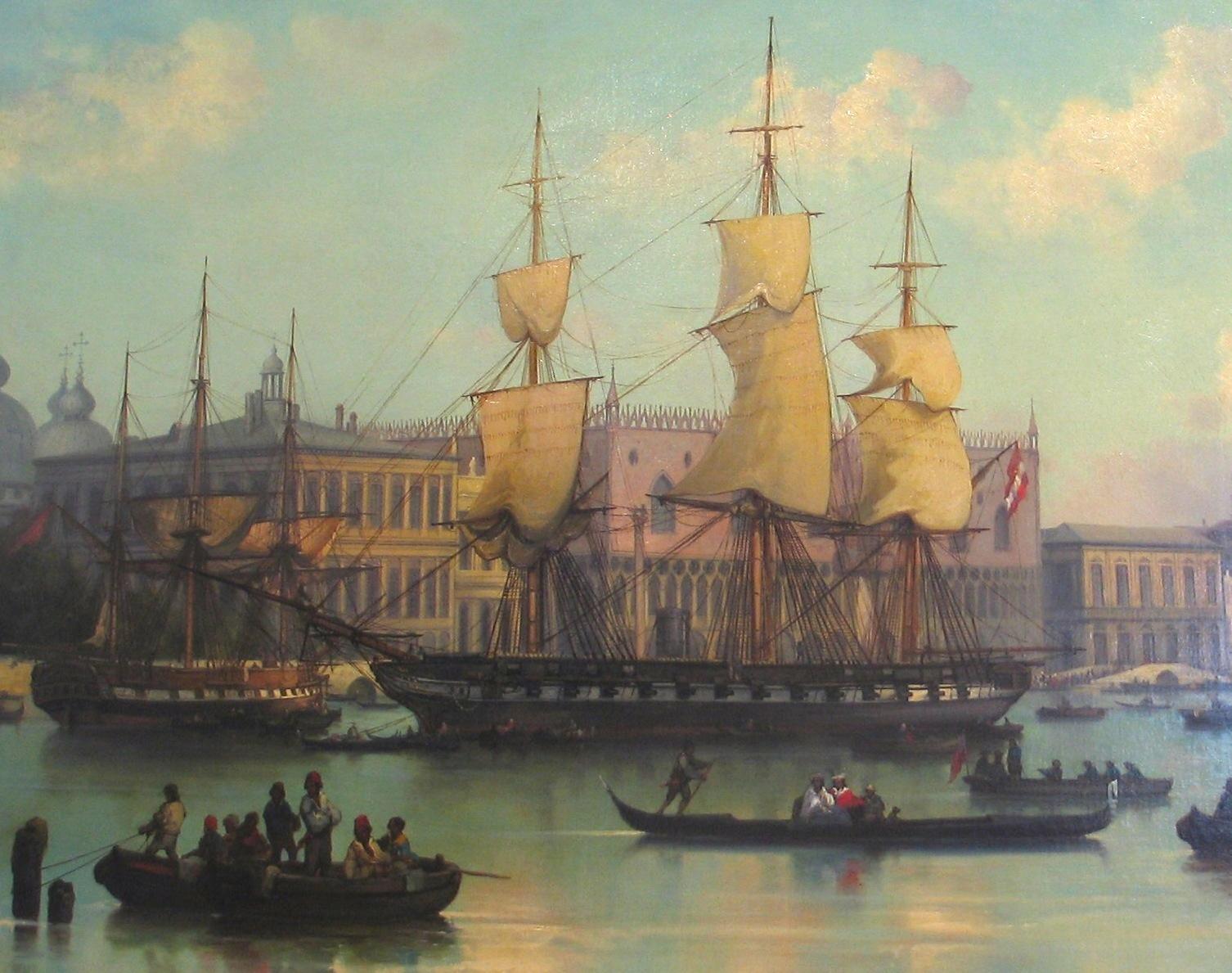A Novara 1856-ban, Velencében. Josef Püttner festménye.