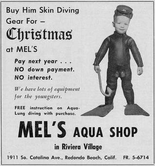 Fisher búvárboltjának egyik reklámanyaga.