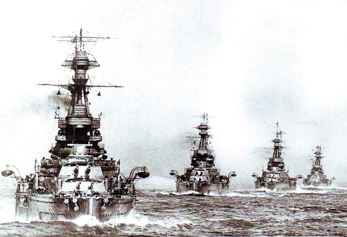 Revenge osztályú csatahajók az első világháború idején.
