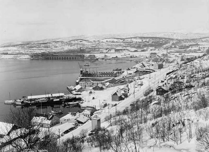 A narviki érckikötő 1924-ben.