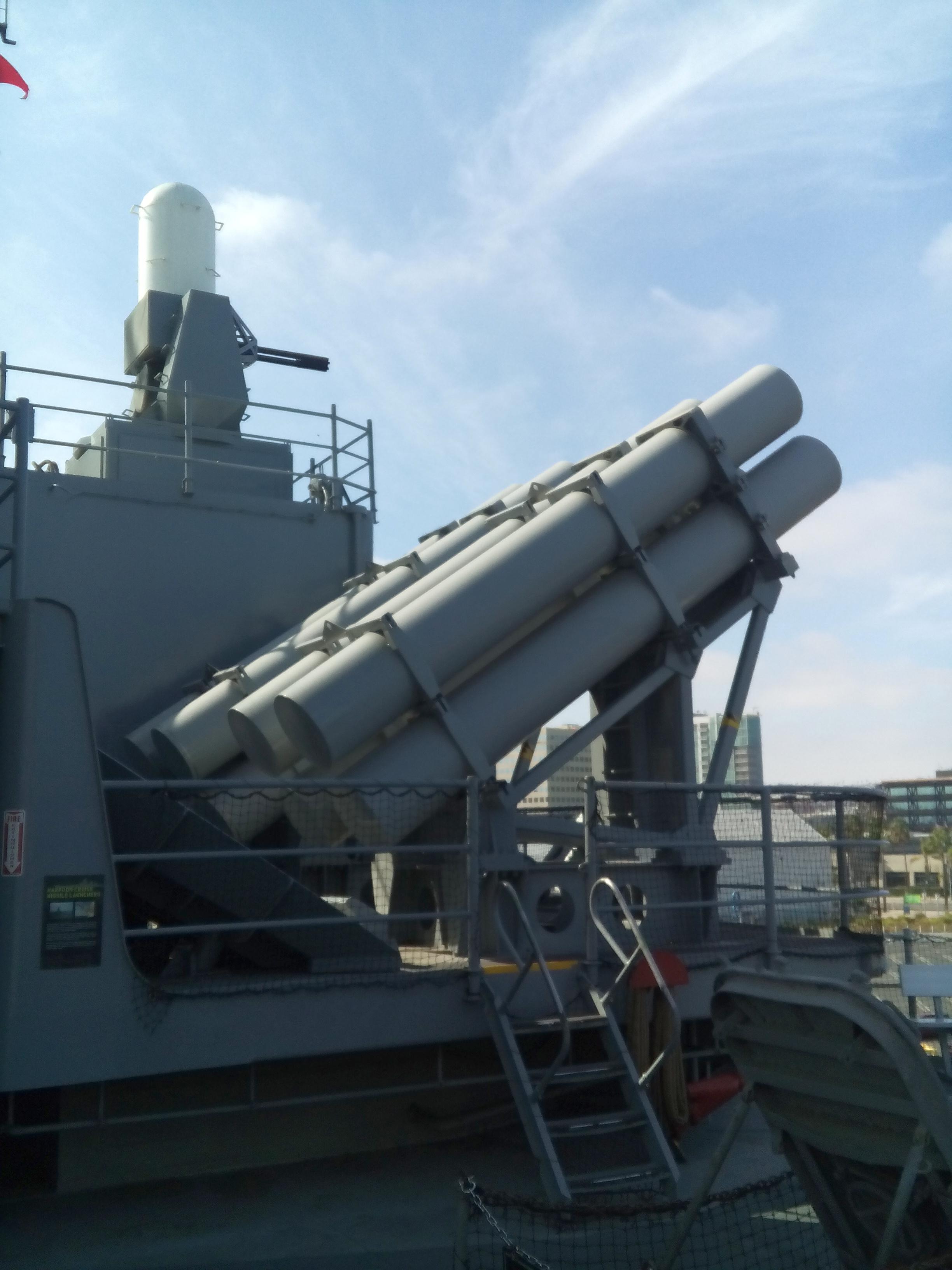 A Harpoon rakéták egyik indítóállása.