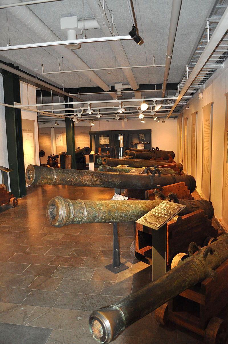 A Kronan ágyúi a Kalmar-i múzeumban.