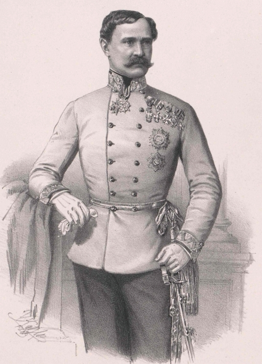 Ludwig von Kudriaffsky, 1848-ban a flotta ideiglenes parancsnoka. (1805-1894)