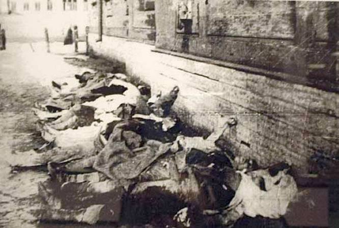 Holttestek Kronstadt utcáin.