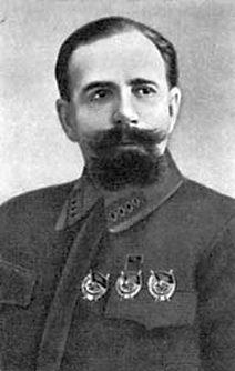Paul Efimovics Dibenko, a bolsevik csapatok egyik vezetője, a lázadás leverése után Kronstadt városparancsnoka.