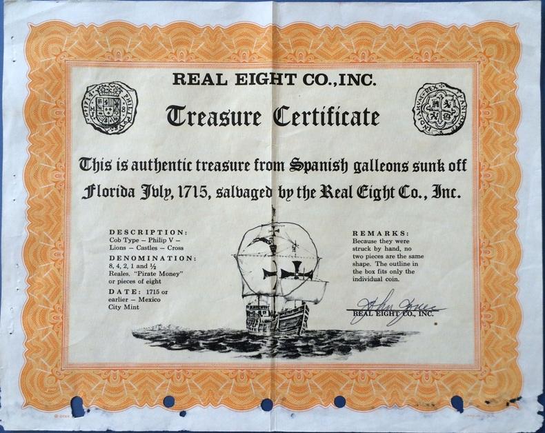 A Real Eight Company által az aukciókon elárverezett műkincsek mellé adott tanúsítvány, mely igazolja azok eredetiségét.