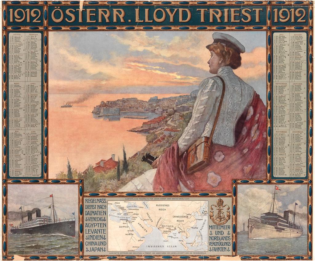 A Lloyd egyik plakátja a háború előtti időkből.