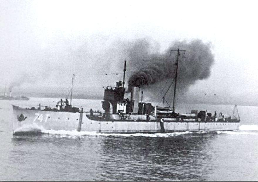 A 74T torpedónaszád.