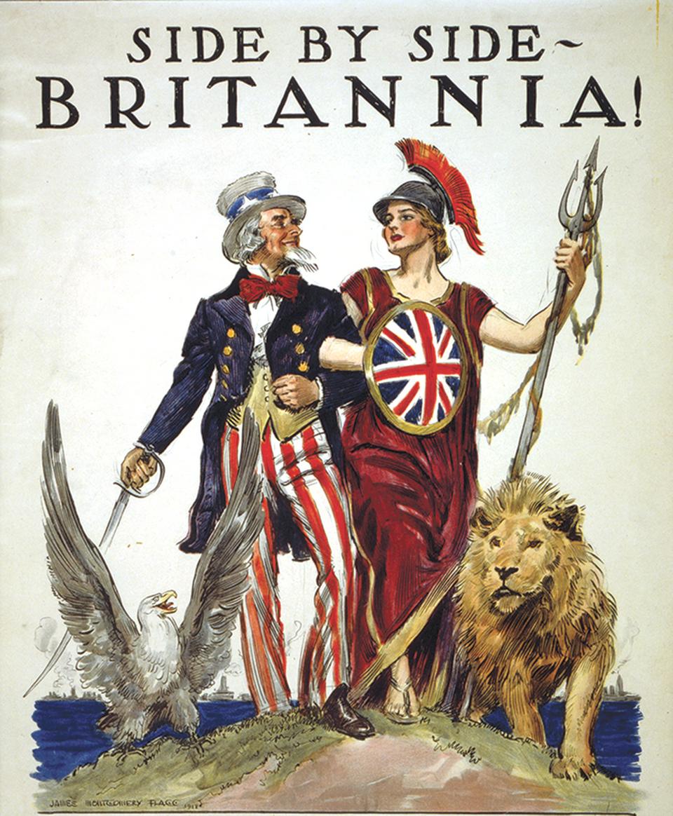 A testvéri együttműködés. Amerikai plakát 1918-ból.