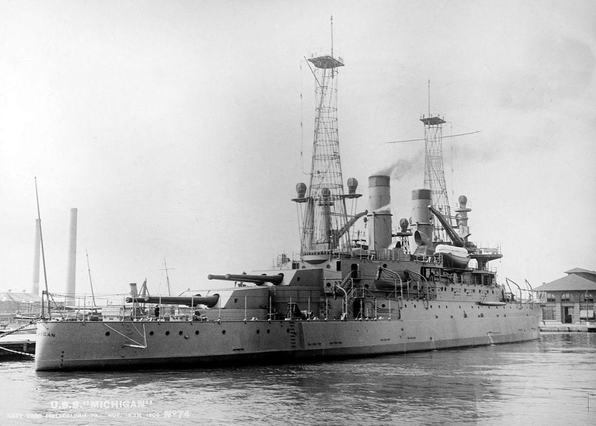 A Michigan, az elsőként elkészült amerikai dreadnought.