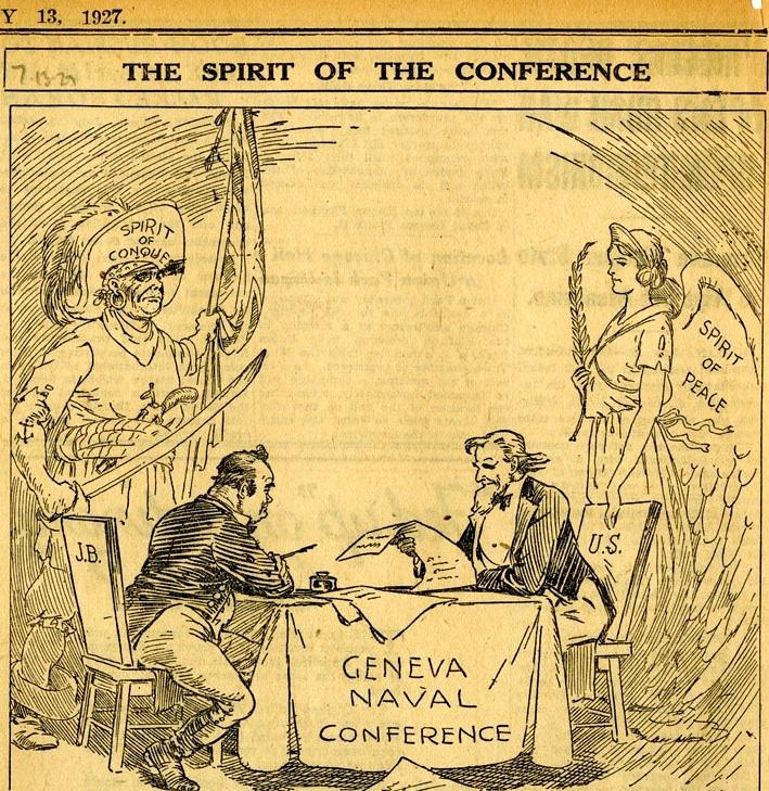 A genfi konferencia kudarcának oka, az amerikai karikaturisták szerint.