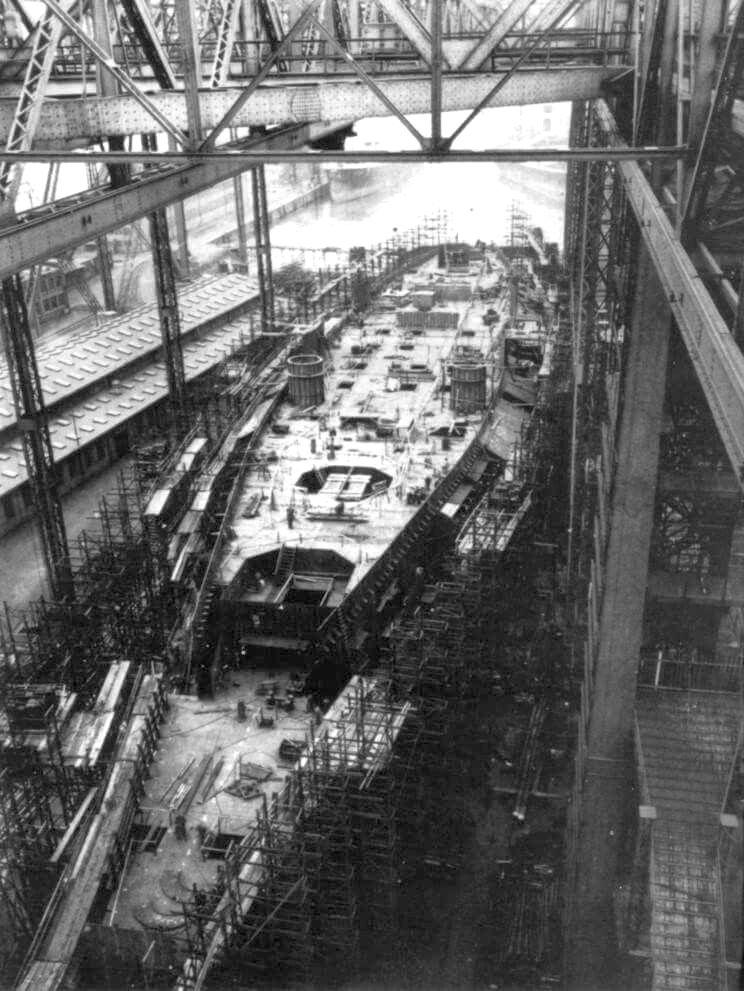 Az épülő Bismarck.