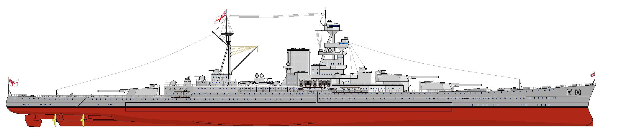 Fisher utolsó csatacirkálója, az 50 ezer tonnás Incomparable, mely a britek szerencséjére már nem jutott el a megvalósításig.