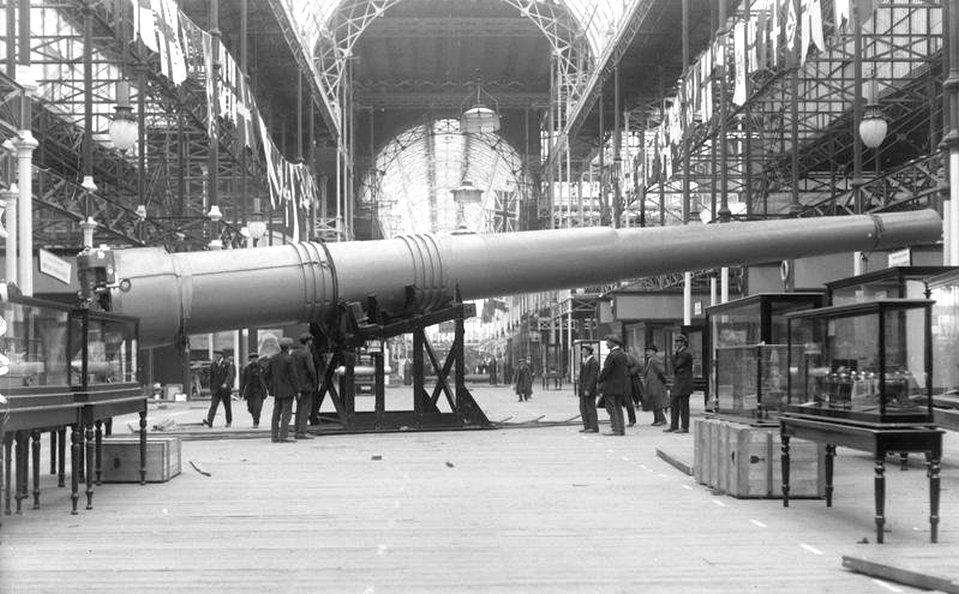 457 mm-es hajóágyú másolata az Imperial War Museum kiállításán.
