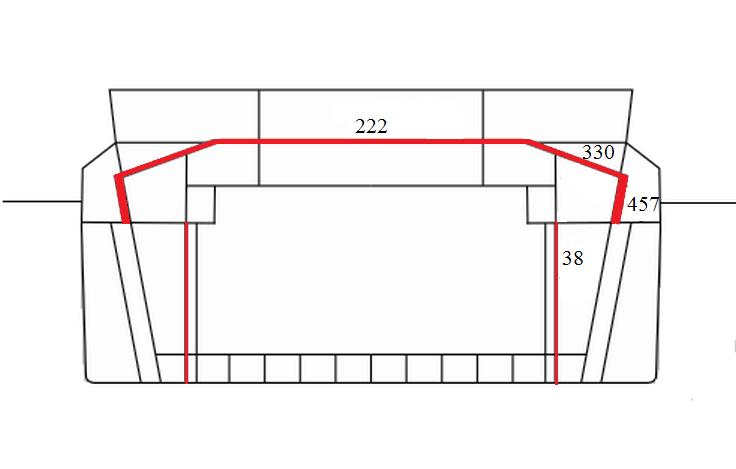 Az L1 terv páncélelrendezése.