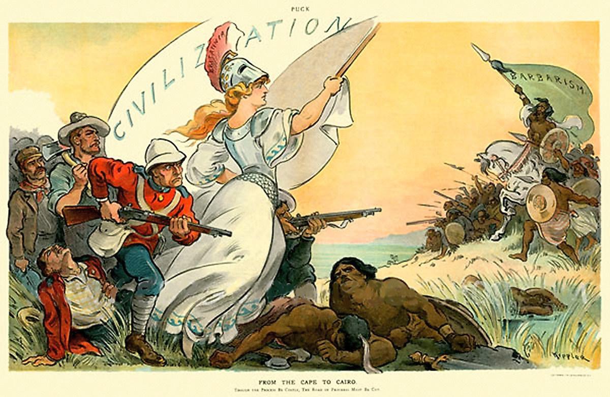 A civilizációt védő Britannia megküzd a barbarizmussal.