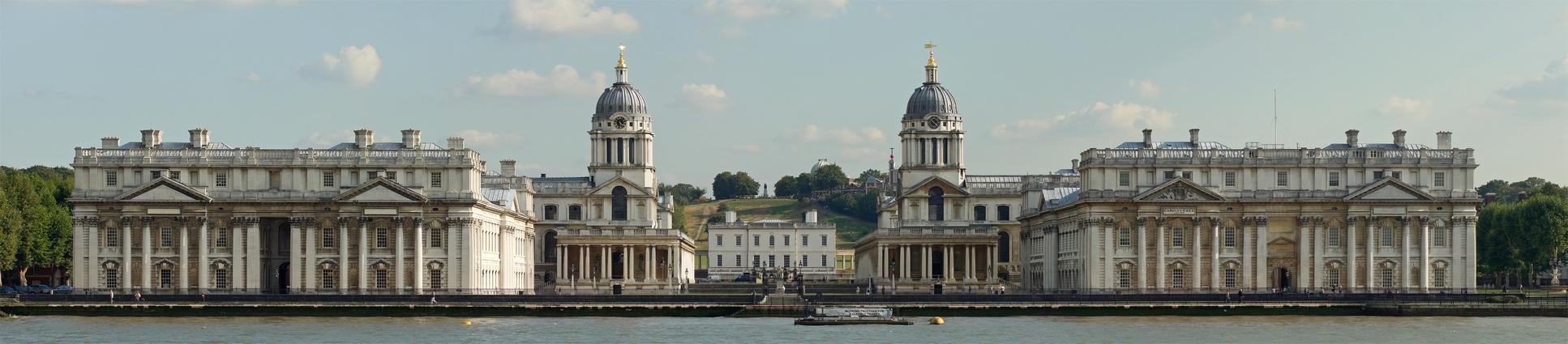 A dizájnra azért nagyon adtak. A Greenwich-i tengerészkórház épülete.