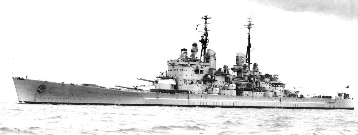 A másik hajó, amit meglevő ágyúk köré terveztek. Az angol Vanguard.