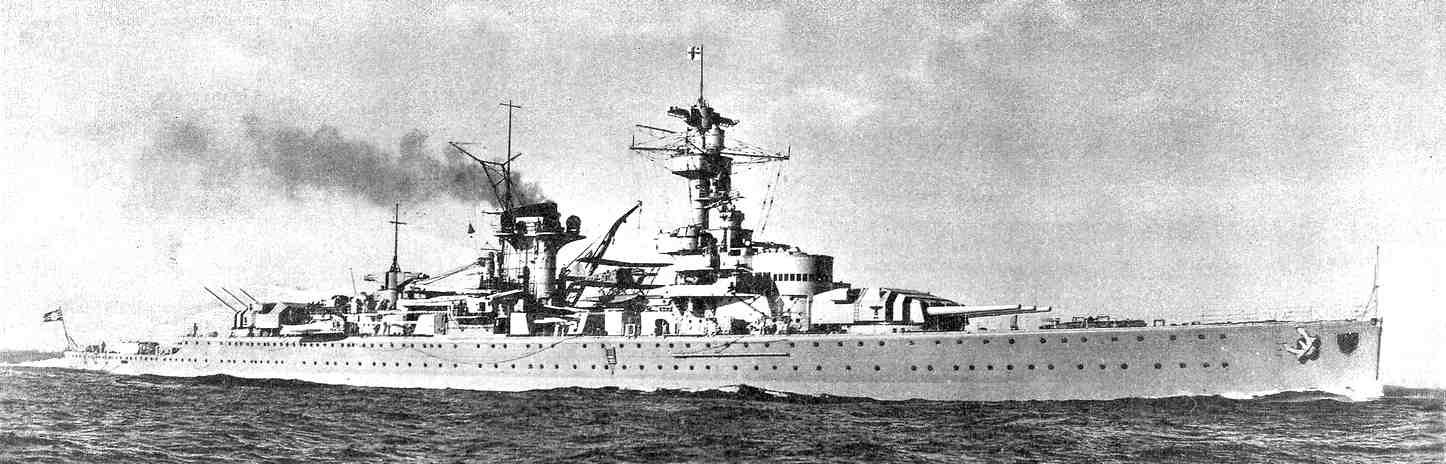 Az első zsebcsatahajó, a Deutschland.