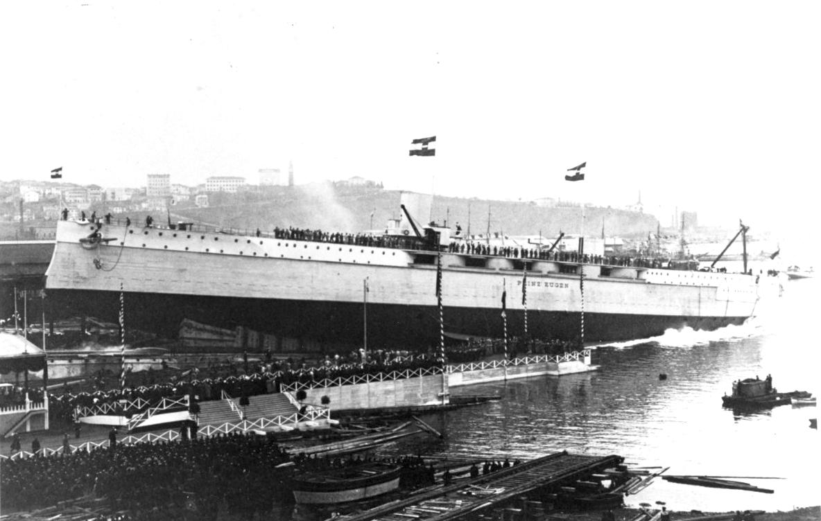 A Prinz Eugen vízrebocsátása.
