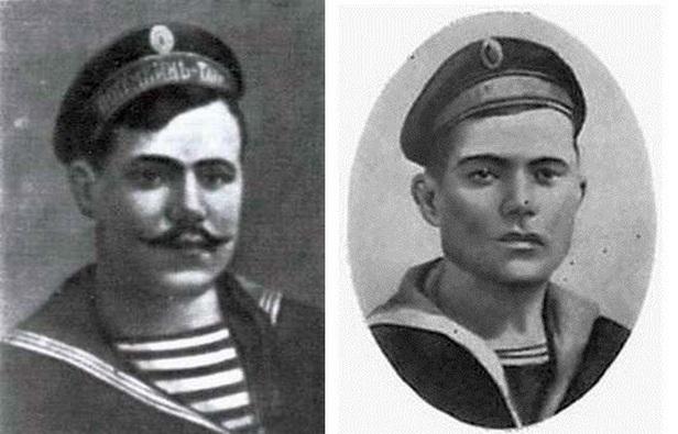 A lázadás két vezetője, Grigorij Nyikitics Vakulencsuk, és Afanaszij Nyikolajevics Matyusenko.