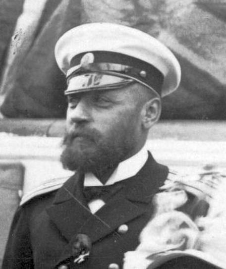 Alekszander Krisztianovics Krieger, itt még a Rurik cirkáló kapitányaként, az 1890-es években.