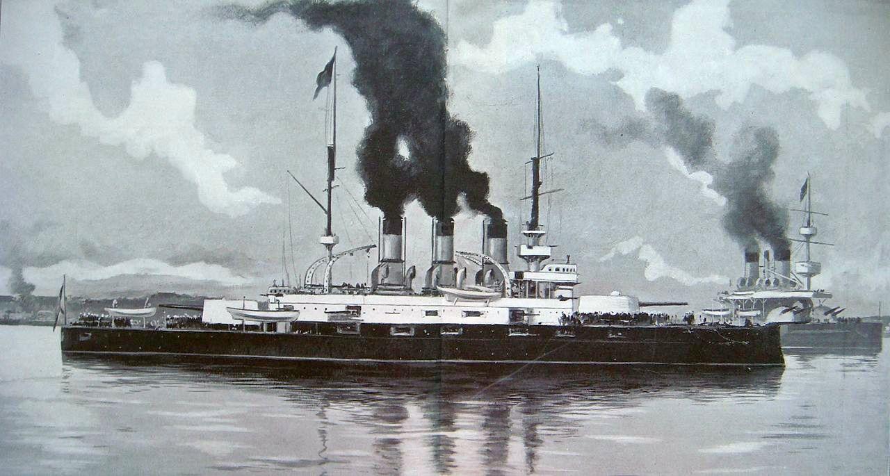 A forradalmi flotta. A Patyomkin és a Pobedonoszec Odesszában.