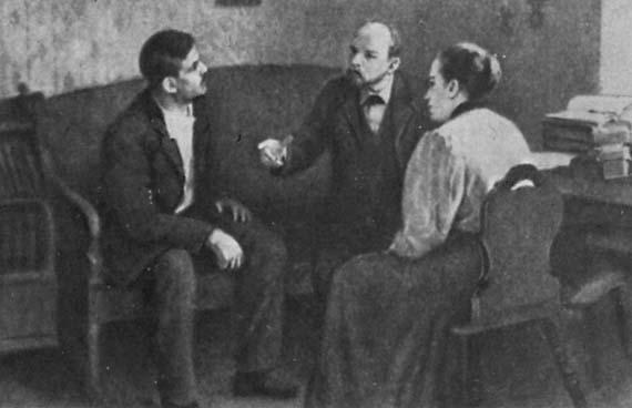 Lenin elvtárs próbálja beszervezni Matyusenkót.