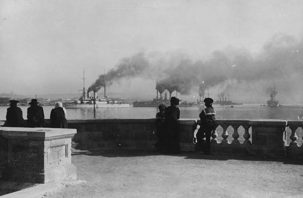 A flotta Szevasztopolban, 1905-ben.