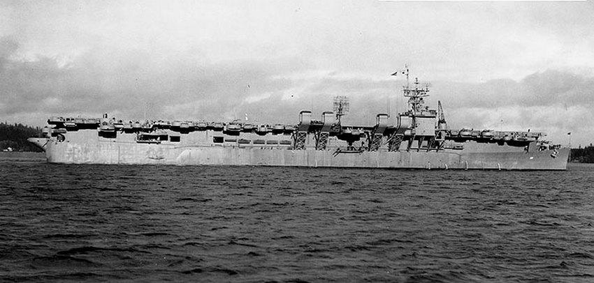 A Princeton Bremerton kikötőjében, 1944 januárjában.