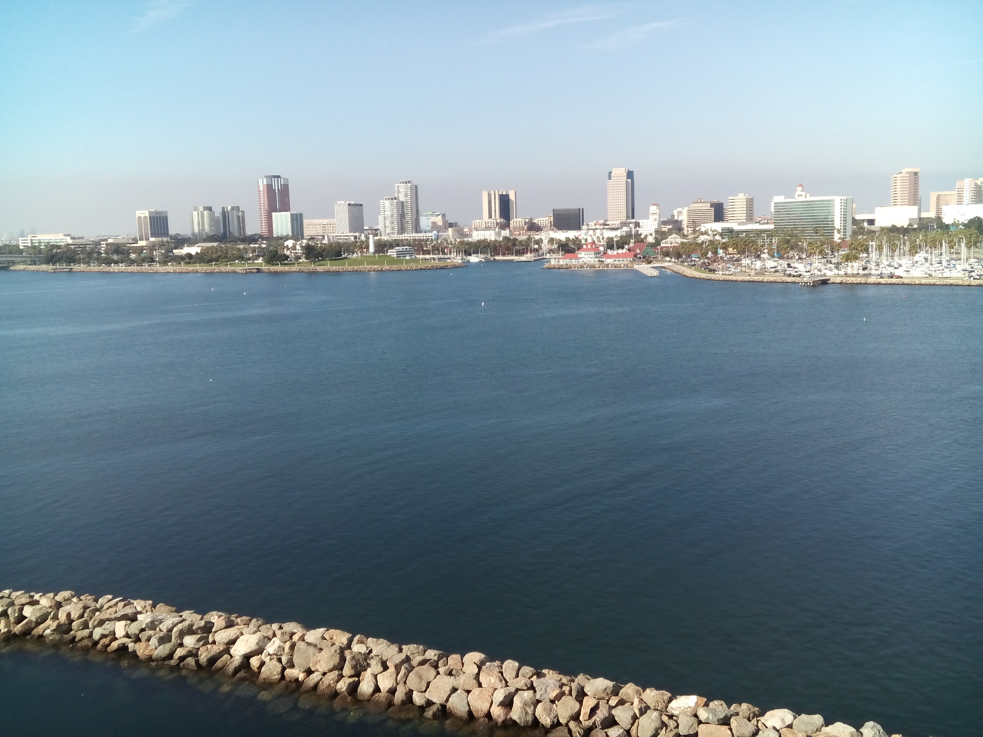 Kilátás Long Beach-re.