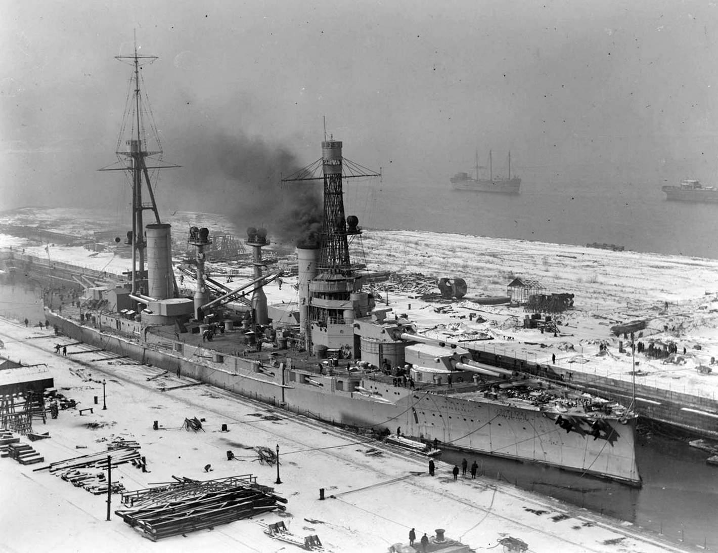 Az argentin Rivadavia csatahajó.