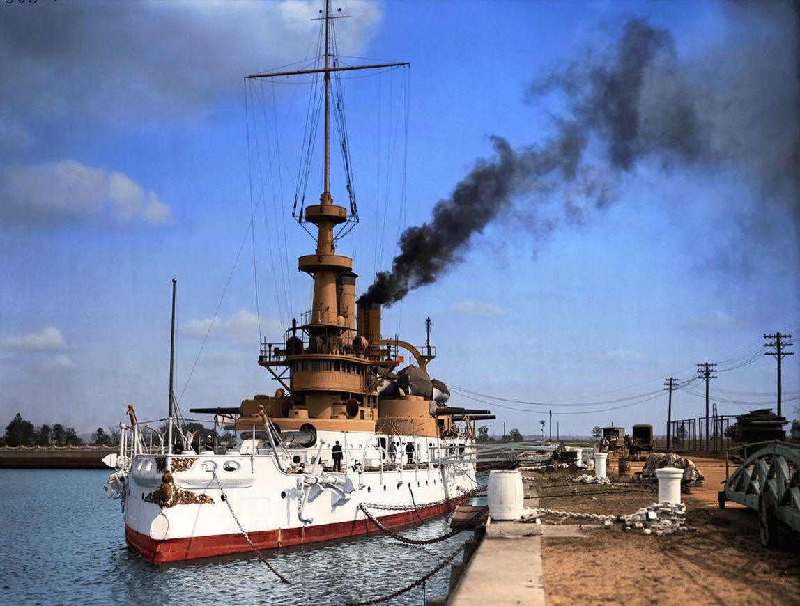Az Indiana, az első modern amerikai csatahajó.