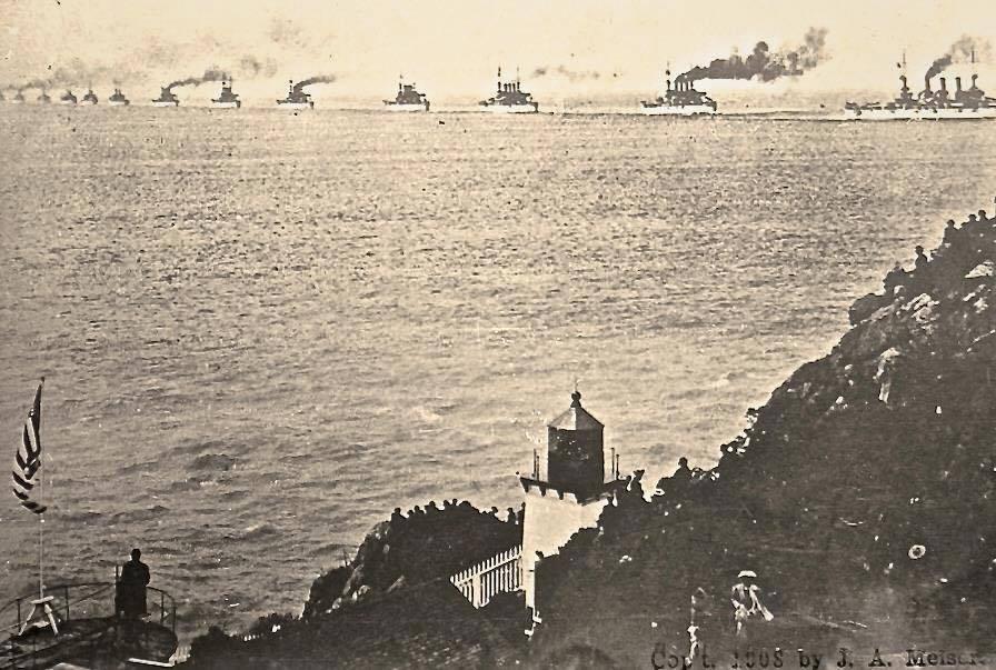 A Nagy Fehér Flotta Trinidad előtt.