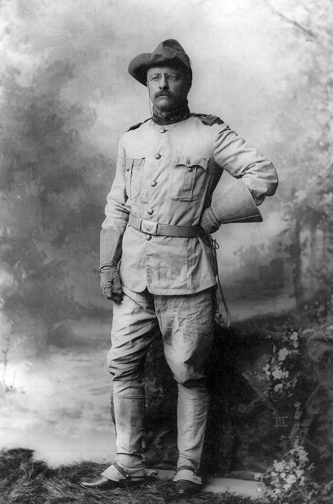 Theodore Roosevelt 1898-ban, a spanyol háború idején.