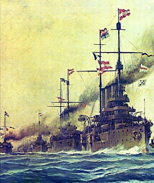 Osztrák-magyar csatahajók.