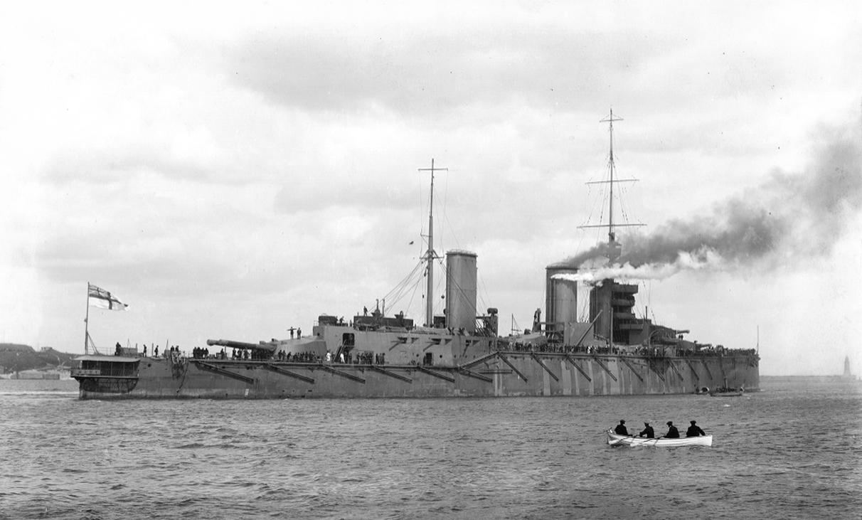 A Queen Mary csatacirkáló.