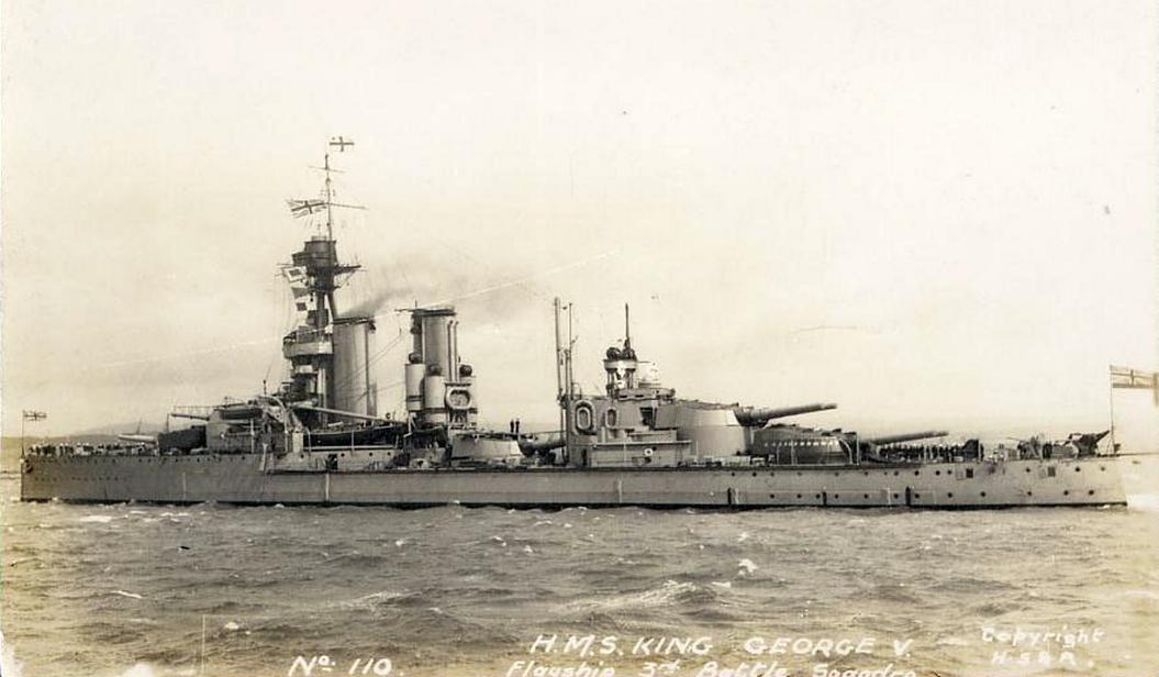 A King George V, a Második Csatahajóraj zászlóshajója.
