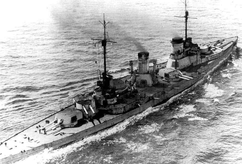 A Seydlitz, Hipper zászlóshajója.
