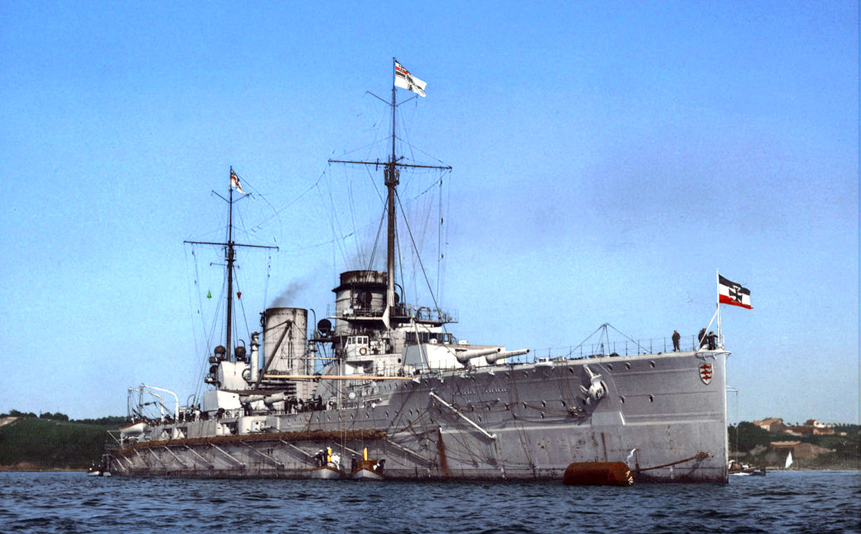 A Von der Tann csatacirkáló.