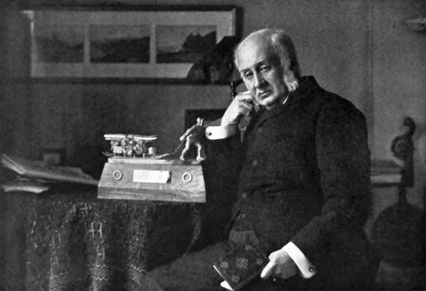 Sir Clements Robert Markham, a Royal Geographical Society befolyásos elnöke.