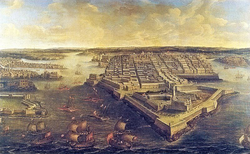 A máltai Nagy Kikötő a XVIII. században.
