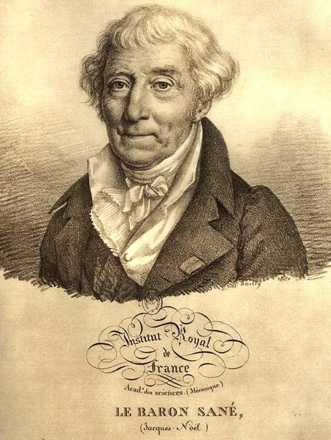 A korszak talán legnagyobb hírnévnek örvendő hajómérnöke, Jacques Noel Sané. (1740-1831)