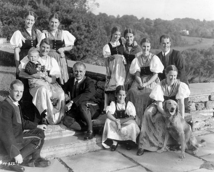 A Trapp család a negyvenes évek elején.